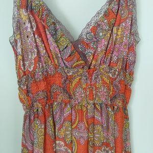 FREE PEOPLE Paisley boho size6/XS midi dress